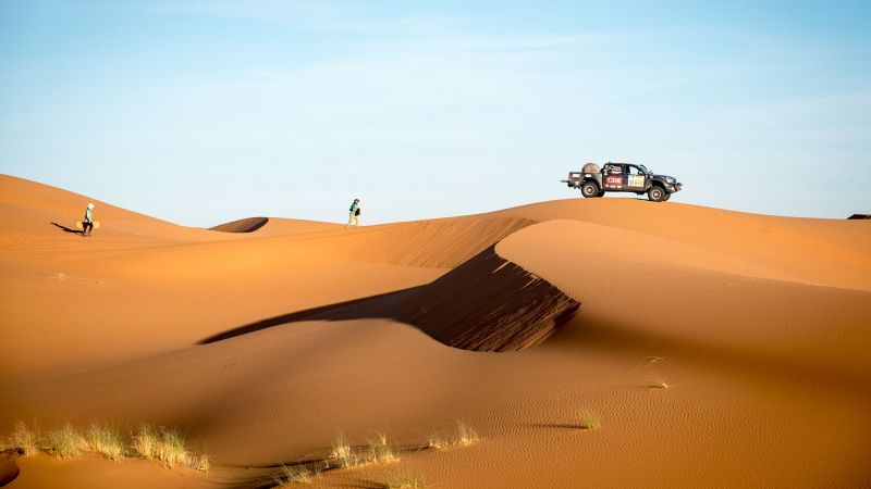 Driving through Morocco's Erg Chebbi and Chegaga Dunes is a Gazelle Rally highlight. Even seeing them in the distance is intimidating. They are so big and so distinct. They are such a symbol of the rally, competitor Susanah Hoehn says of the dunes.